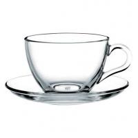 Pasabahce Basic 97948 Чашка с блюдцем для чая 240 мл в интернет магазине профессиональной посуды и оборудования Accord Group