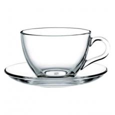 Купить Чашка с блюдцем для чая Pasabahce Basic 215 мл (97948)
