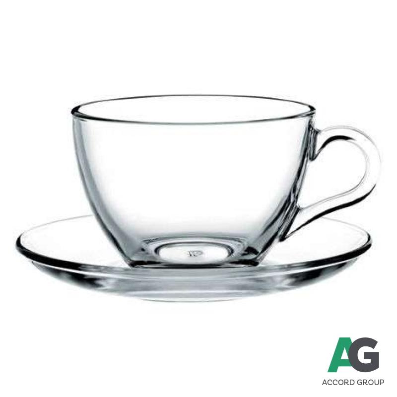 Купить Чашка с блюдцем для чая Pasabahce Basic 215 мл (97948)3