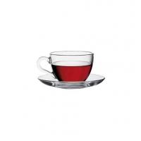 Pasabahce Basic 97984 Чашка с блюдцем для кофе 90 мл в интернет магазине профессиональной посуды и оборудования Accord Group