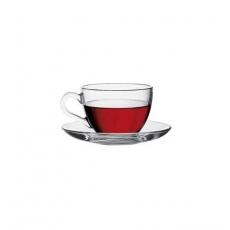 Купить Чашка с блюдцем для кофе Pasabahce Basic 90 мл (97984)