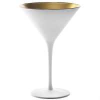 Stoelzle Olympic Бокал для мартини матовый-белый/золотой 240 мл в интернет магазине профессиональной посуды и оборудования Accord Group