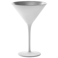 Stoelzle Olympic Бокал для мартини матовый-белый/серебряный 240 мл в интернет магазине профессиональной посуды и оборудования Accord Group