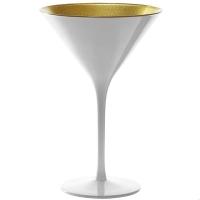Купить Stoelzle Olympic Бокал для мартини глянцевый-белый/золотой 240 мл