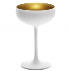 Купить Бокал для шампанского Stoelzle Olympic матовый-белый/золотой 230 мл