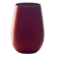 Купить Stoelzle Red&Black Стакан матовый-красный/черный 465 мл