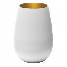 Купить Стакан Stoelzle Olympic матовый-белый/золотой 465 мл