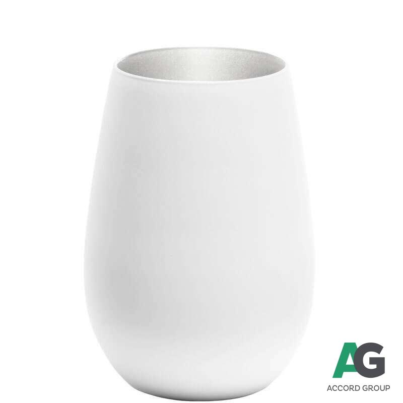 Купить Стакан Stoelzle Olympic матовый-белый/серебряный 465 мл3