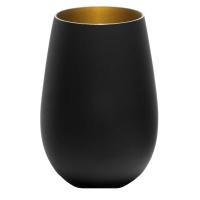 Stoelzle Olympic Стакан матовый-черный/золотой 465 мл в интернет магазине профессиональной посуды и оборудования Accord Group