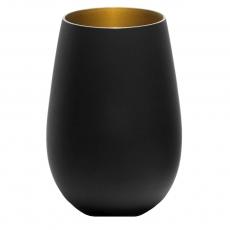 Купить Стакан Stoelzle Olympic матовый-черный/золотой 465 мл