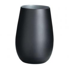 Стакан Stoelzle Olympic матовый-черный/серебряный 465 мл