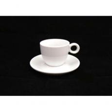 Чашка с блюдцем 80 мл ручка круг Helios