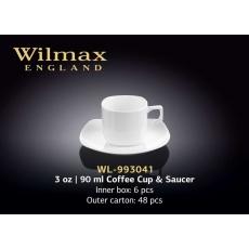 Купить Wilmax Чашка кофейная с блюдцем 90 мл Color (в подарочной упаковке)