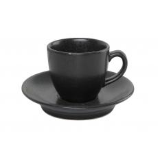 Купить Porland Seasons Black Чашка кофейная с блюдцем 80 мл