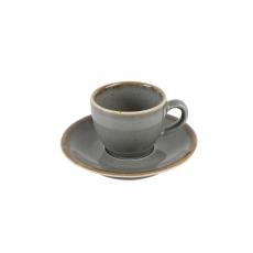 Купить Porland Seasons Dark Gray Чашка кофейная 80 мл с блюдцем 120 мм в наборе
