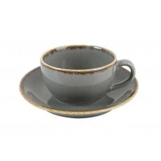 Купить Porland Seasons Dark Gray Чашка чайная с блюдцем 200 мл