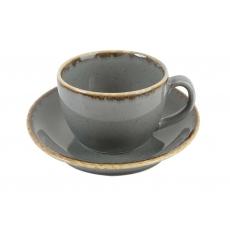 Купить Porland Seasons Dark Gray Чашка чайная 320 мл с блюдцем 160 мм в наборе