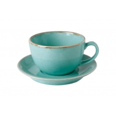 Купить Porland Seasons Turquoise Чашка чайная 320 мл с блюдцем 160 мм в наборе