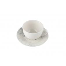 Porland Smoky Alumilite Чашка чайная 215 мл с блюдцем 160 мм в наборе
