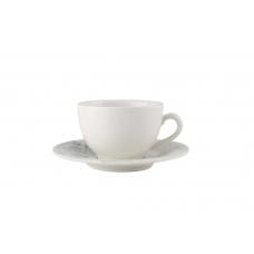 Porland Smoky Alumilite Чашка чайная 280 мл с блюдцем 160 мм в наборе