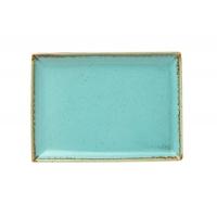 Porland Seasons Turquoise Тарелка прямоугольная 270х210 мм в интернет магазине профессиональной посуды и оборудования Accord Group