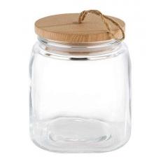 Купить APS Woody 82255 Банка стеклянная с крышкой 1 л