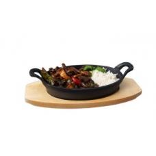 Мини сковорода чугунная на подставке с ручками 210х150 мм Stalgast 049012