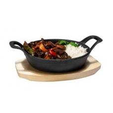 Мини сковорода чугунная на подставке с ручками d-150 мм Stalgast 049013
