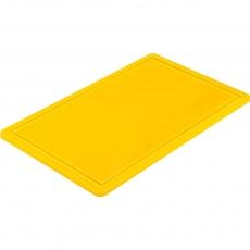 Купить Доска разделочная желтая 530х325х15 мм Stalgast 341533