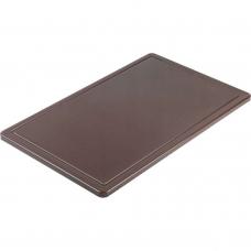 Доска разделочная коричневая 500х325х15 мм Stalgast 341536