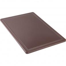 Купить Доска разделочная коричневая 600х400х18 мм Stalgast 341636
