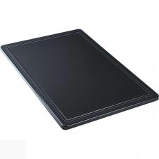 Доска разделочная черная 600х400х18 мм Stalgast 341637