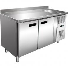 Купить Стол холодильный 2-х дверный с мойкой Stalgast 841061