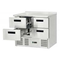 Стол холодильный Stalgast 4 выдвижных ящика 842041 в интернет магазине профессиональной посуды и оборудования Accord Group