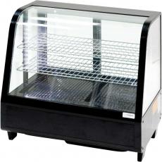 Купить Витрина холодильная настольная Stalgast, 100 л, черная, с LED подсветкой, 852104
