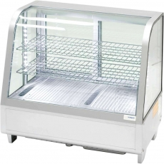 Купить Витрина холодильная настольная Stalgast, 100 л, серебряная, с LED подсветкой, 852105