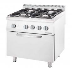 Купить Плита газовая 4-х конфорочная с духовкой Stalgast 9710130