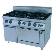 Плита газовая 6-и конфорочная с духовкой Kogast PS-T67/1-0
