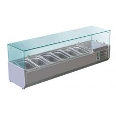 Купить Витрина холодильная настольная (5хGN1/3 + 1xGN1/2) Cooleq VRX 1500/380