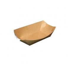"""Купить Тарелка """"Лодочка"""" крафт с ламинацией, 100 шт/уп, 180х100х45 мм"""