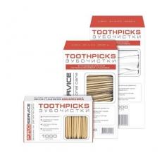 Купить Зубочистки Professional деревянные в ПП упаковке 6,5 см, 1000 шт/уп