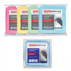 Купить Салфетки из микрофибры Professional 38х38 см, плотность 320 гр/м2,  3 шт/уп, зеленые