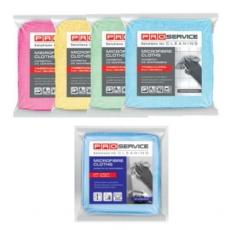 Купить Салфетки из микрофибры Professional 38х38 см, плотность 320 гр/м2,  3 шт/уп, голубые