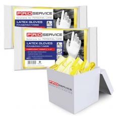 Купить Перчатки латексные хозяйственные Industrial, размер M, 30 пар/уп, желтые