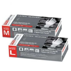 Купить Перчатки латексные кухонные Professional, размер L, 100 шт/уп, белые