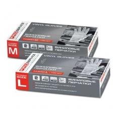 Купить Перчатки виниловые Professional, размер L, 100 шт/уп, белые