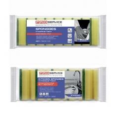 Купить Губки кухонные Professional 10х7х4,5 см, 5 шт/уп, желтые