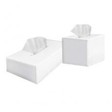 Купить Салфетки косметические PROservice (куб) 3--х слойные, 80 листов 21х21 см, белые