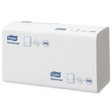 Купить Полотенца бумажные ZZ сложения Tork Universal Singlefold 1 слойные, 250 листов 23х23 см, белые H3