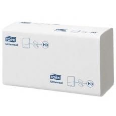 Купить Полотенца бумажные ZZ сложения Tork Universal Singlefold 1 слойные, 300 листов 23х23 см, белые H3